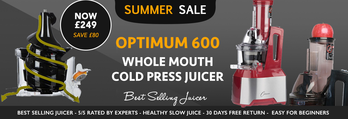Optimum 600 Slow Juicer Review : Slow juicers :: Optimum 600 : 2016 Best Selling Slow Juicer Large Chute, No Prep, Delicious Juice.